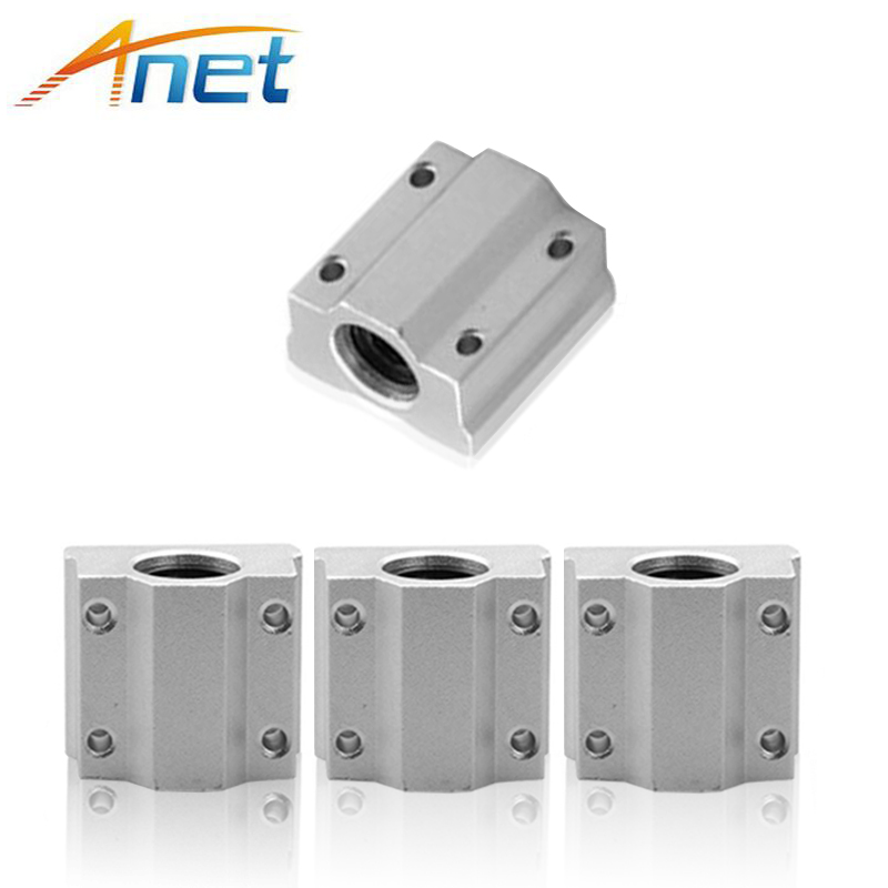 4pcs/lot SC8UU SCS8UU 8mm Linear Ball Bearing Block CNC Router with LM8UU Bush Pillow Block Linear Unit Free Shipping axk sc8uu scs8uu slide unit block bearing steel linear motion ball bearing slide bushing shaft cnc router diy 3d printer parts