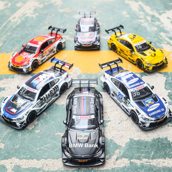 Led Light BM M4 Rally Car 1:43 Sports Car Model Diecast Super Racing Alloy Car Pull back alloy toys collection Christmas gift image