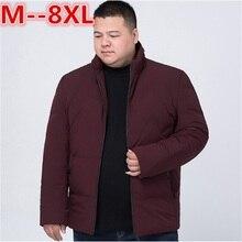 BIG SIZE 10XL 9XL 8XL 6XL 2017 Hot Sale Men Winter Splicing Cotton-Padded Coat Jacket Winter Parkas High Quality plus large size