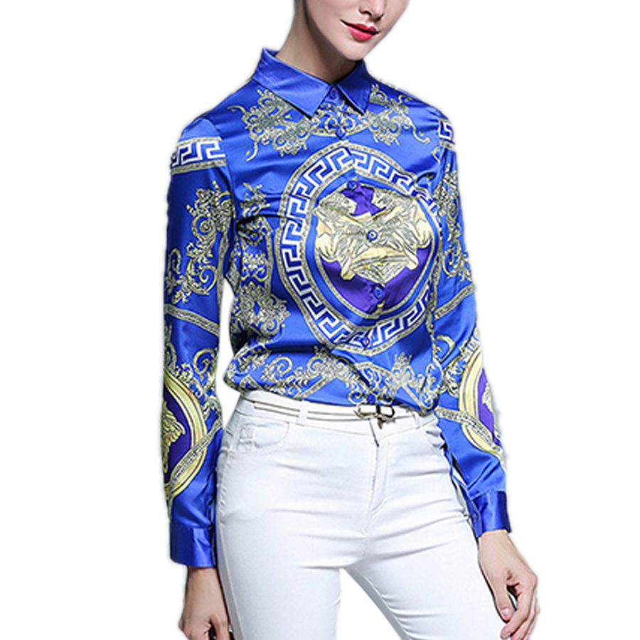 Popular Blue Satin Blouse Buy Cheap Blue Satin Blouse Lots