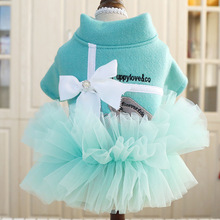 Spring Autumn Pet dog dresses for small dogs Bowknot Tutu Dress for Dogs Cat Pet clothing teddy poodle Clothes for Dogs music for dogs