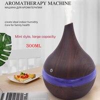 Difusor de aire de Aroma eléctrico USB humidificador de aire ultrasónico de madera 300ml aceite esencial aromaterapia máquina de niebla fresca para el hogar Humidificadores     -