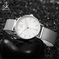 New SK Luxury Brand Watches Female Street Snap Clock Bussiness Clocks Hours For Women Ladies Quartz