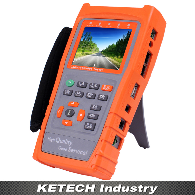 NEW 3.5 HD Handheld IP Camera Testing Analog CVBS CCTV Tester UTP Cable Testing PTZ Control Monitor with RS485 Flashlight 2018