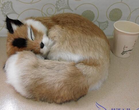 Renard feng shui artisanat réel lapin peau animal modèle spécimen cadeau décoration