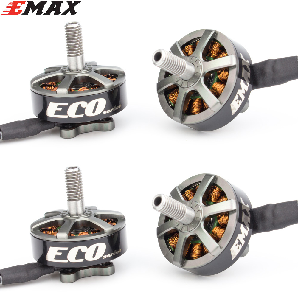 1PCS/2PCS/4PCS Emax ECO Series 2306 6S 1700KV 4S 2400KV Brushless Motor For RC Models Spare Part DIY Accessories