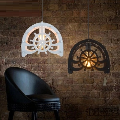 Loft Style Droplight Iron Wheels Pendant Lights Fixtures For Dining Room Antique Hanging Lamp Vintage Industrial Lighting iron cage loft style creative led pendant lights fixtures vintage industrial lighting for dining room suspension luminaire