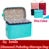 84 Bottles Diamond Painting Accessories Cross Stitch Tool Box Container Diamond Storage Bag 5D Embroidery Mosaic
