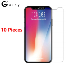 10 Pieces Screen Protector For iPhone X XR XS MAX 6 6S 7 8 Plus 5 5S Tempered Glass Film For iPhone 5S 5C SE Anti-scratch Glass electroplating tempered glass mirror screen guard film for iphone 5 5s 5c