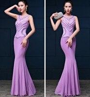 2019 Real Picture Lace O neck Party Gowns Long Evening dress vestido de festa longo com Abendkleider Abiti da sera H0740 New