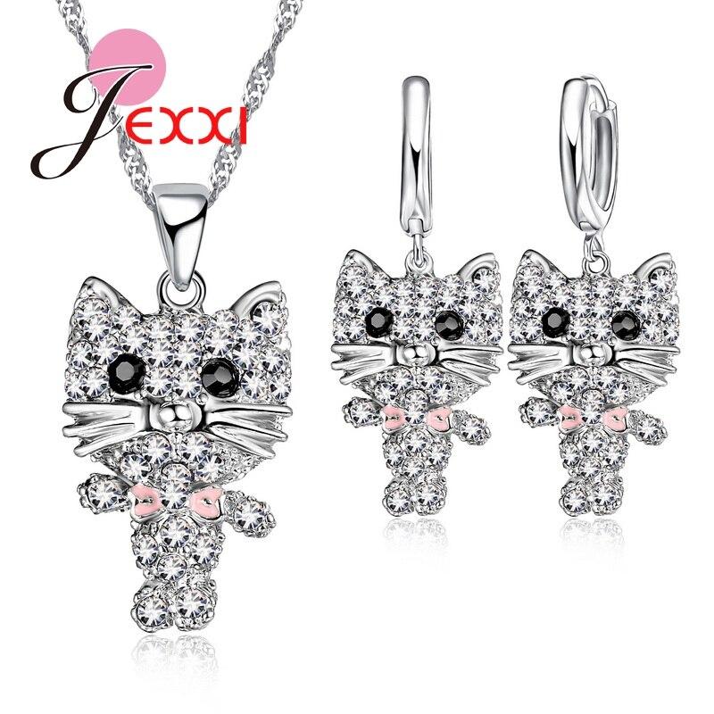 Berühmte Design Schöne Tier Beste Verkauf 925 Sterling Silber Frauen Anhänger Halskette Hochzeit Schmuck-sets Ohrringe Feminina