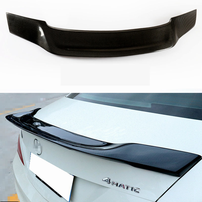 For Mercedes-Benz CLA W117 CLA180 CLA200 <font><b>CLA250</b></font> CLA260 CLA45 2013 - UP <font><b>Spoiler</b></font> Carbon Fiber Car Rear Trunk Wing <font><b>Spoiler</b></font> image