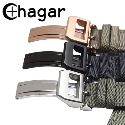 Fashion Breathable Watch Straps For Iwc watch Woven Nylon Canvas Durable Sport P