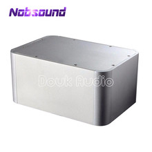 Nobsound  Aluminum Rounded Corner Chassis Amplifier Enclosure Silver Box Case