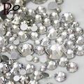 New parcel 1000pcs fashion clear crystal glass shiny 3D true glass nail art faceted rhinestone