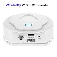 New WiFi-Realy  UFO wifi led controller Master receiver WiFi to RF Converter DC 5-24V work with V1/V2/V3/V4 Receiver стоимость