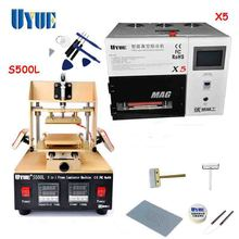 UYUE Screen Repair Machine Set 5 In 1 Screen Separator Machine+OCA Vacuum Laminating Machine+Cutting Wire Free Shipping S500L+X5