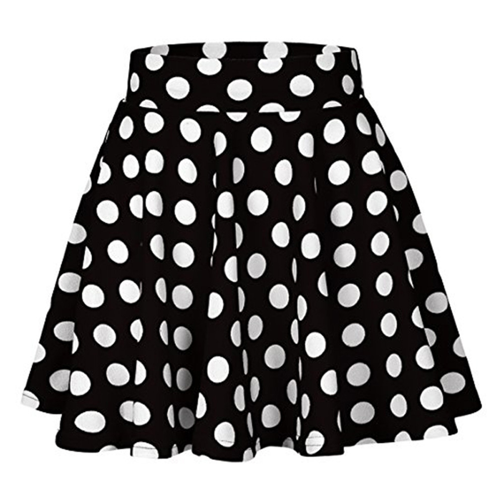 Black with White Spots Polka Dots Swim Skirt by Hot Honi P7