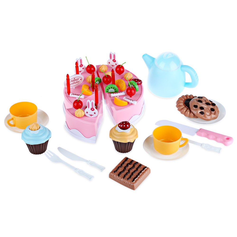 Playing house diy kid - 54pcs Diy Cutting Birthday Cake Children Kids Baby Early Educational Toys Plastic Simulation Toy Set Toy Playing House Game