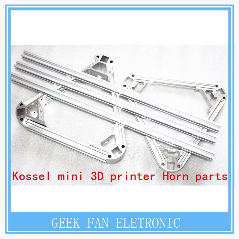 kossel mini 3d printer horn parts, non-standard parts, metal corner piece aluminum alloy frame