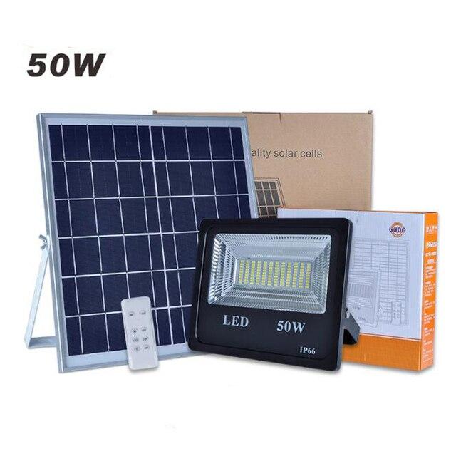 5PC 50W Solar Flood Light Double Color LED Solar LED Flood Light Outdoor Light For Garden Yard Wall Lamp Floodlight