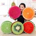 Criativo 3D Adorável Fruit Morango Kiwi Melancia De Pelúcia Brinquedo Almofada Do Encosto
