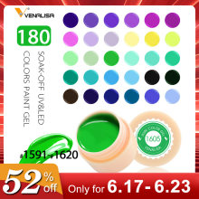 Venalisa UV Gel Novo 2019 Nail Art Design Dicas Manicure 60 Tinta Gel de Cor LED UV Soak Off Pintura DIY esmaltes de Unhas de Gel UV Laca(China)