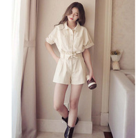 Women White Red Denim Overalls Jumpsuits For Women Rompers Womens Jumpsuit Shorts Jeans Playsuit S XL New 49