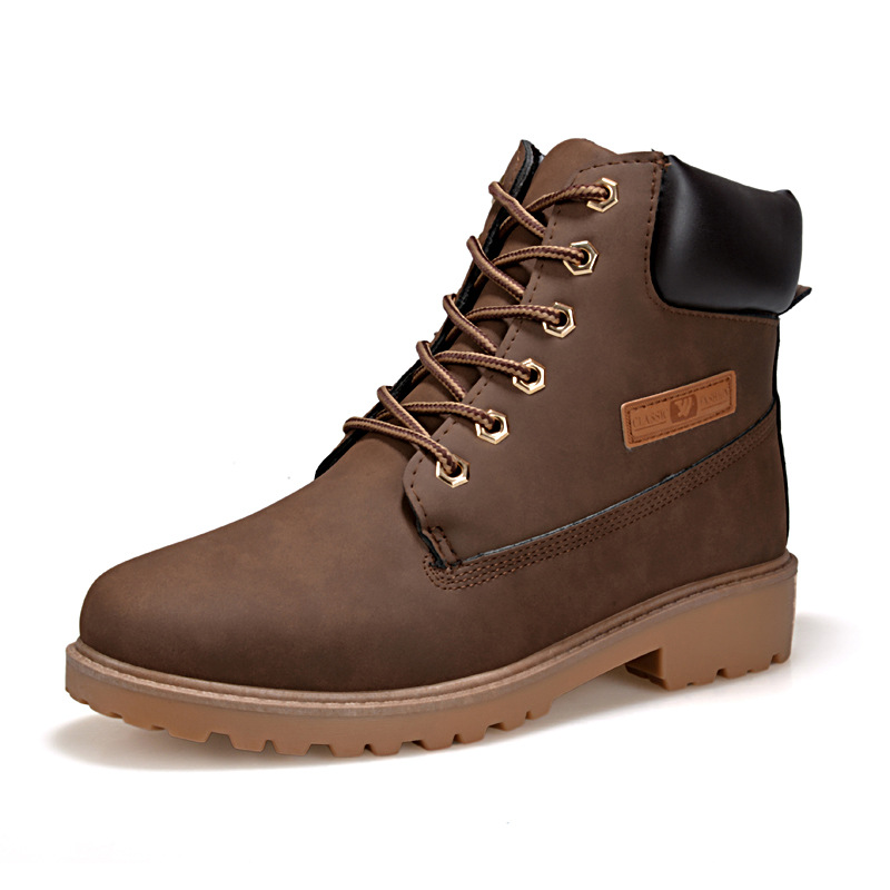 New Design Korean Fashion Shoes Men Warm Winter Boots