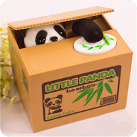 High Quality Itazura Stealing Coin Panda Coins Penny Cents Piggy Bank Saving Box Money Box Kids