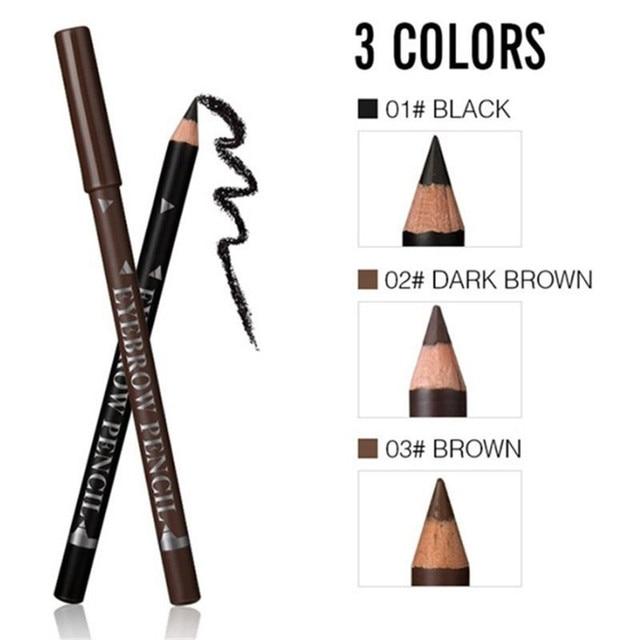 2019 New Hot Sale 12pcs Waterproof Eye Brow Pencil Black Brown Eyebrow Pen Long Lasting Makeup Drop Shipping 2