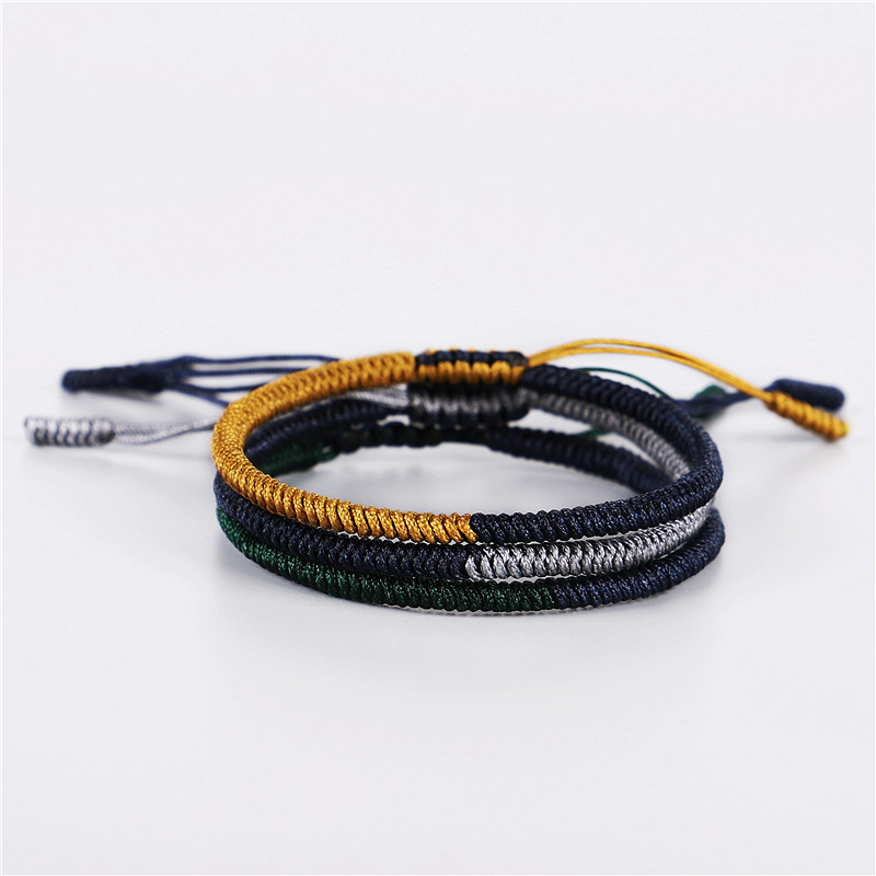 3pcsset Original Tibetan Jewelry Buddhist Handmade Lucky Knots Rope Bracelet Men Size Adjustable Buddhism Bracelet For Women