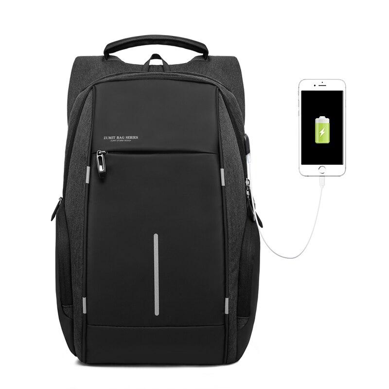 Кака брендовая модная сумка рюкзак мужской Повседневное Оксфорд 15 дюймов для ноутбука рюкзак черный Водонепроницаемый USB Anti theft рюкзаки ...