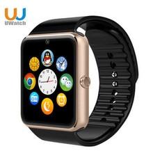 Uwatch gt08 smart watch bluetooth uhr mit sim einbauschlitz push-nachricht gesundheit android wear smartwatch für samsung apple iphone