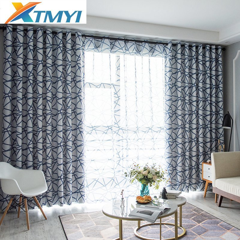 curtains for my living room yellow wall ideas meditrranean style irregular stripes thermal insulated blackout modern bedroom sweet home