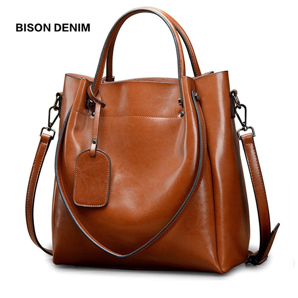 Бизон джинсовый из натуральной кожи роскошные Сумки Для женщин сумки дизайнер женская мода сумка большая сумка Crossbody Сумочка N1486
