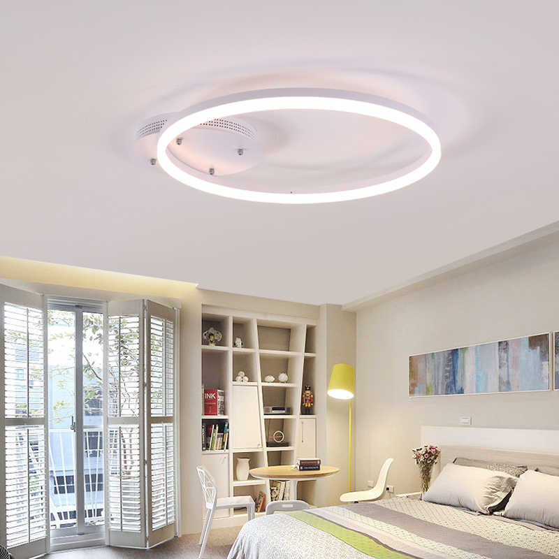 Awesome White Acrylic Modern Led Ceiling Lights For Living Room Bedroom Led Lustres Large Ceiling Ring Lighting Fixtures Ac85 260V Download Free Architecture Designs Barepgrimeyleaguecom