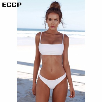 ECCP 2018 New Sexy Bikinis Women Swimsuit Summer Beach Wear Push Up Swimwear Female Bikini Set Halter Top Bathing Suits Swim XXL 2