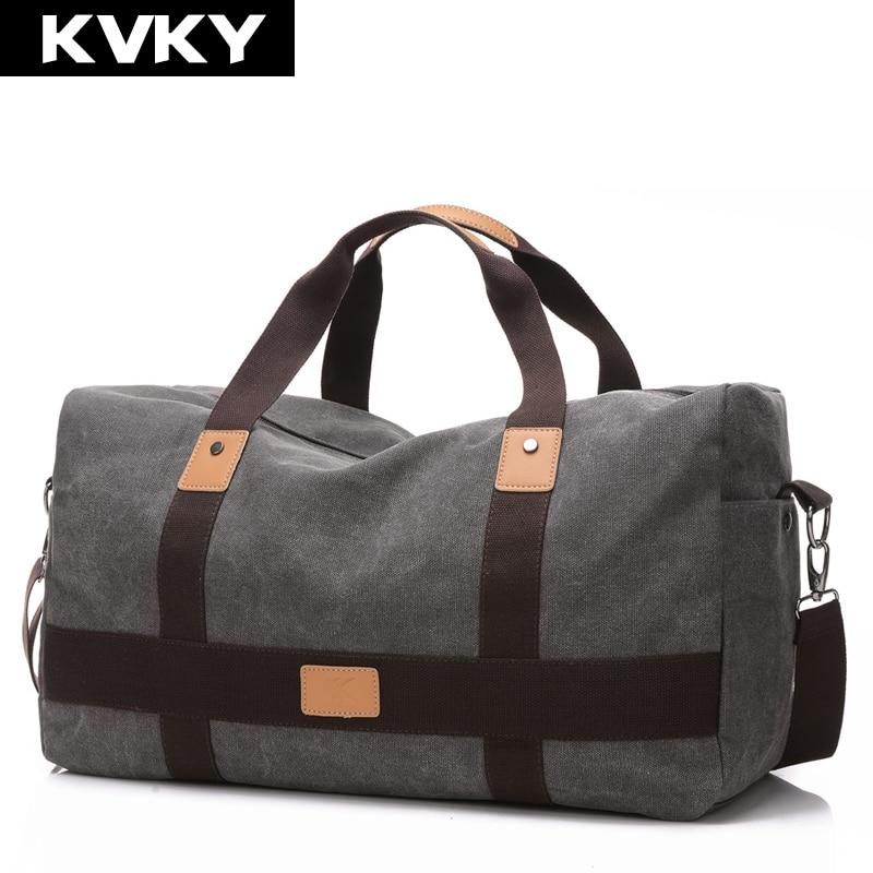 KVKY Нов Винтидж Мъжки Холна Чанта Висококачествени Пътни Чанти Голям Капацитет Жени Пътни Чанти за Пътуване Сгъваеми Чанти