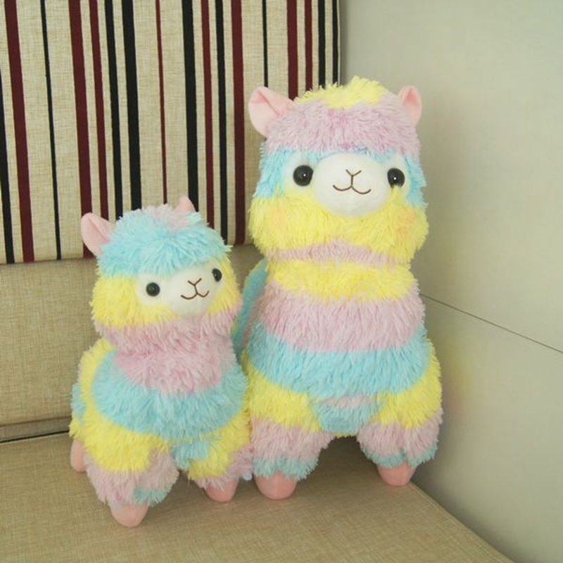 Rainbow Alpaca Plush Sheep Toy Japanese Soft Plush Alpacasso Baby 100 Plush Sheep Stuffed Animals Alpaca