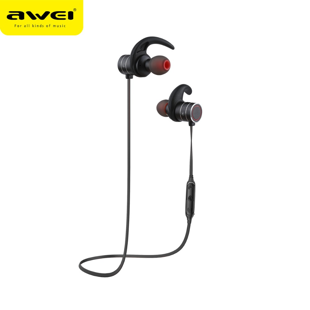 AWEI AK9 Interruttore Magnetico Auricolare Bluetooth Sport Senza Fili Impermeabile Auricolare con microfono Musica Stereo Auricolari Senza Fili