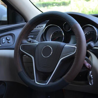 New 4Colors Anti Slip Sport Leather Steering Wheel Cover Car Covers Fit 38cm Full Hole Breathable