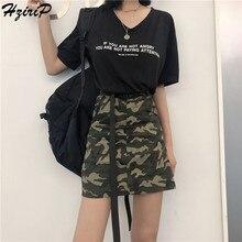 6dd2d2de4 Hzirip Skirt Women 2018 Summer High Waist A-line Short Camouflage Skirt  Fashion Sexy High Quality Mini Skirts Womens Jupe Faldas