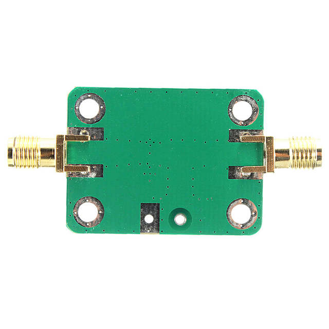 US $8 51 9% OFF New Arrival 0 1 2000MHz RF wideband amplifier gain 30dB low  noise amplifier LNA Board Modules 25X52mm Colorfu green + gold-in
