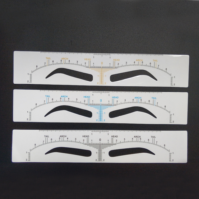 25pcs Disposable Eyebrow Ruler Sticker Microblading Accessories Eyebrow Stencil Shaping Measure Tools Permanent Makeup Supplies 5