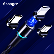Essager Magnetic Micro USB Cable For iPhone Samsung Android Fast Charging Type C 3m Type-C Cord Magnet Charger Adapter