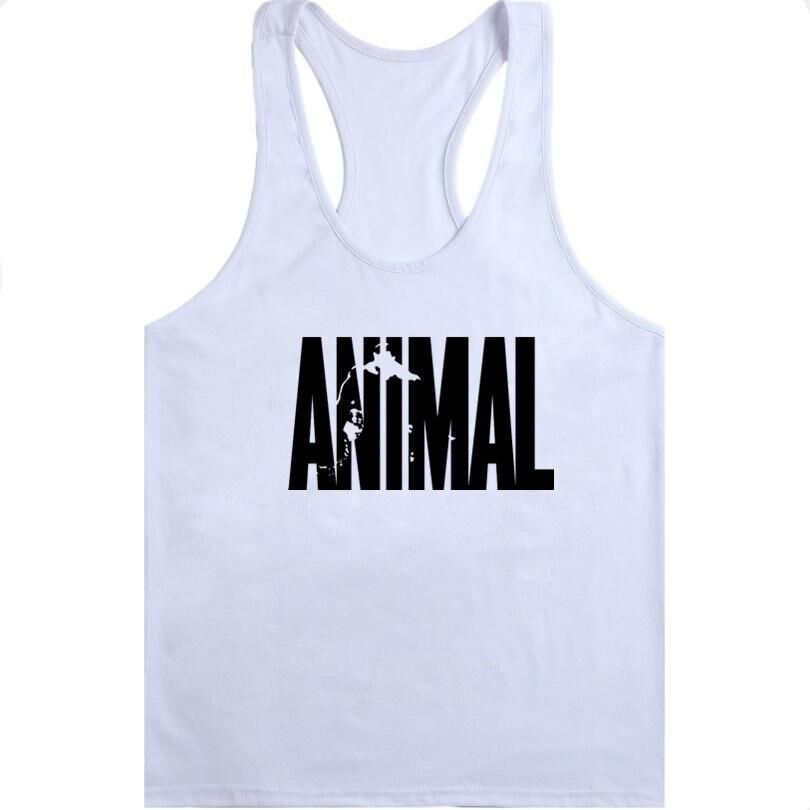 GYMS WINER Brand Cotton Animal Stringer   Tank     Tops   Mens Sleeveless Singlets Bodybuilding Clothes Undershirt Fitness Vests