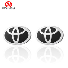Brand round car logo Cufflinks High Quality for Mens Shirt Wedding Party Cuff Links The Bake Lacquer Cuff Button Accessories