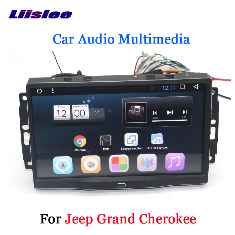 Liislee Car Android 6.0 GPS Навигация Мультимедиа JEEP Grand Cherokee Радио BT HD Экран Аудио Видео CD DVD ойнатқышы жоқ