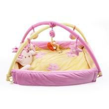 Soft Baby Game Pagar Crawl Guardrail Safe Hurdles Children Real playpen lembut bayi dengan 5pcs Hanging Bells Gift Activity Gear